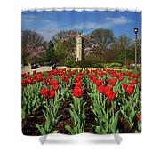 Jackson Park Spring Tulips 2 Shower Curtain