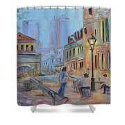 Jackson Square Musicians Shower Curtain