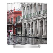 Jackson Square Rainy Day  Shower Curtain