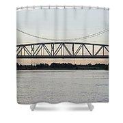 Jackson Street Bridge Shower Curtain