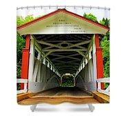 Jackson's Mill Covered Bridge Shower Curtain
