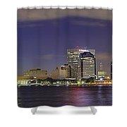 Jacksonville Florida Skyline - Panoramic - City Shower Curtain by Jason Politte