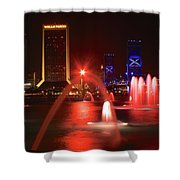 Jacksonville Skyline Shower Curtain