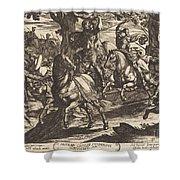 Jacob Kills Absalom, Son Of King David Shower Curtain
