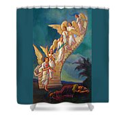 Jacob's Ladder - Jacob's Dream Shower Curtain