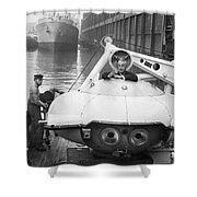 Jacques Cousteau (1910-1997) Shower Curtain