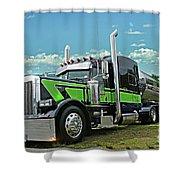 Jade Transport Peterbilt Shower Curtain