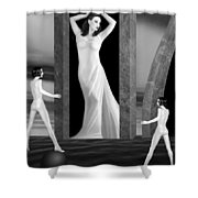 Jaedes Fortress - Self Portrait Shower Curtain