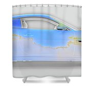 Jag Xke Cloudy Weather Shower Curtain