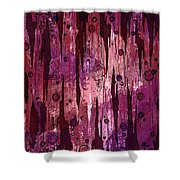 Jagged Edges Shower Curtain