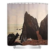 Jagged Rocks Shower Curtain