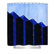 Jagged Sky Scraper Shower Curtain