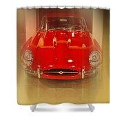 Jaguar E-type 1960s Shower Curtain