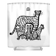 Jaguar Family Shower Curtain