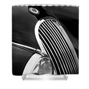 Jaguar Grille Black And White Shower Curtain