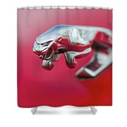 Jaguar Hood Ornament Shower Curtain