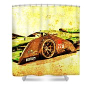 Jaguar Le Mans 2015, Race Car, Fast Car, Gift For Men Shower Curtain