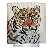 Jaguar Painting Shower Curtain