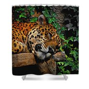Jaguar Relaxing Shower Curtain