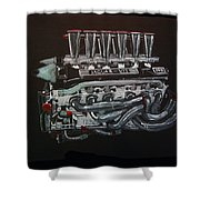 Jaguar V12 Twr Engine Shower Curtain