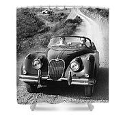 Jaguar Xk 150 Drophead Coupe Shower Curtain