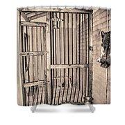 Jail House Interior Shower Curtain