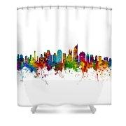 Jakarta Skyline Indonesia Shower Curtain