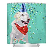 Jake The Party Animal Shower Curtain