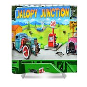 Jalopy Junction 3 Shower Curtain
