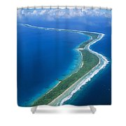 Jaluit Atoll And Lagoon Shower Curtain
