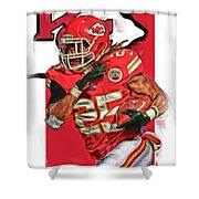 Jamaal Charles Kansas City Chiefs Oil Art Shower Curtain