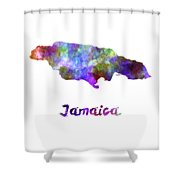 Jamaica In Watercolor Shower Curtain