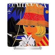 Jamaica, Woman With Orange Hat Shower Curtain