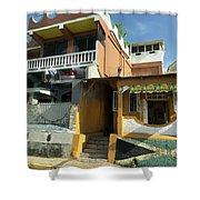 Jamaican Apartments Shower Curtain