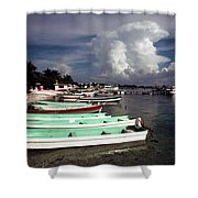 Jamaican Fishing Boats Shower Curtain