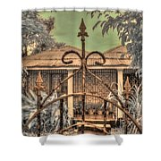 Jamaican Gate Shower Curtain by Jane Linders