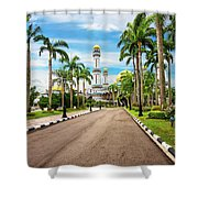 Jame'asr Hassanil Bolkiah Mosque In Brunei Shower Curtain