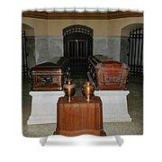 James A. Garfield Coffin Shower Curtain