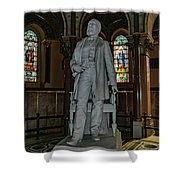 James A. Garfield Statue Shower Curtain