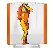 James Classic Pose Shower Curtain