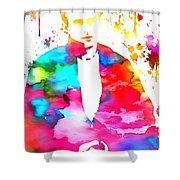 James Dean Watercolor Shower Curtain
