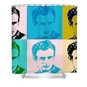 James Dean Pop Art Shower Curtain