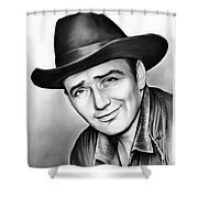 James Drury Shower Curtain