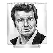 James Garner Shower Curtain