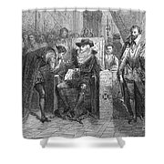 James I Appoints Bacon Lord Chancellor Shower Curtain