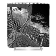 James Joyce Bridge 2 Bw Shower Curtain