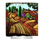 James Lesesne Wells' Farmlands Shower Curtain
