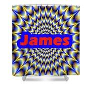 James Shower Curtain