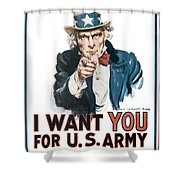 I Want You For U.s. Army Shower Curtain
