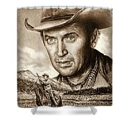 James Stewart The Far Country Shower Curtain